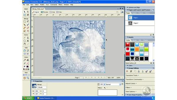 Creating and using bitmap masks: Fireworks CS3 Essential Training