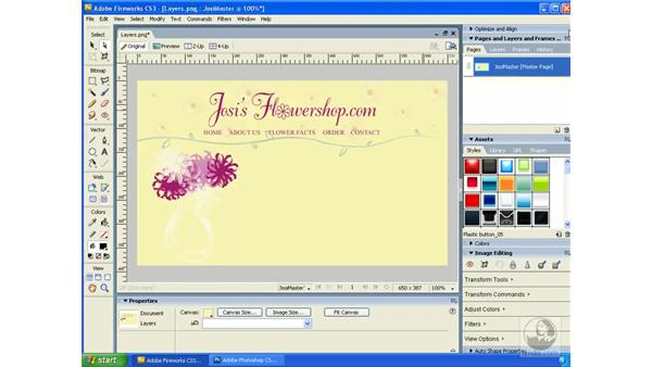 Using Master Pages: Fireworks CS3 Essential Training