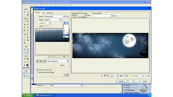 Exporting animations: Fireworks CS3 Essential Training