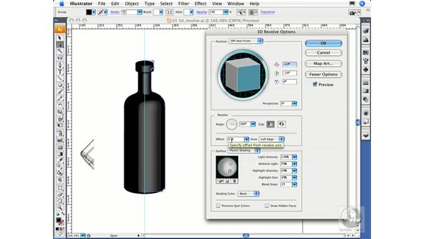 The 3D Revolve effect: Migrating from FreeHand to Illustrator CS3