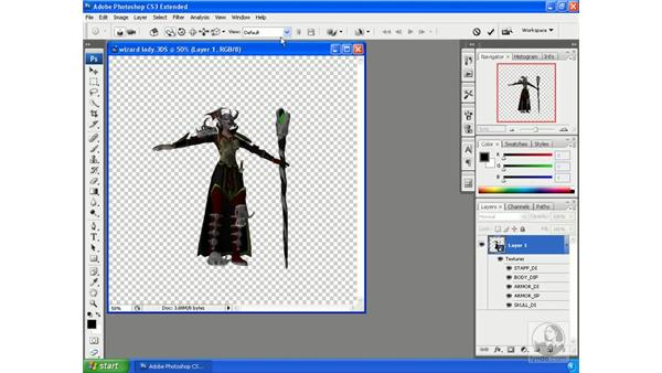 Accessing and using the Object tool: Photoshop CS3 Extended for 3D + Video