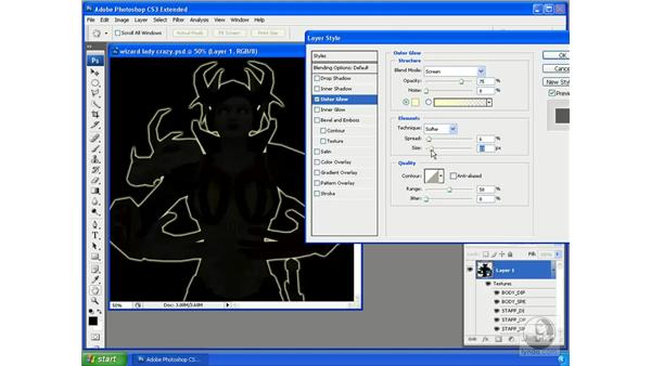 Using Photoshop layer styles on 3D objects: Photoshop CS3 Extended for 3D + Video