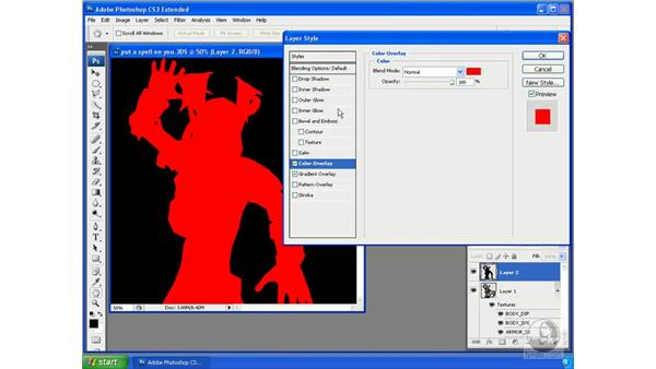 Selecting 3D outline pixels: Photoshop CS3 Extended for 3D + Video