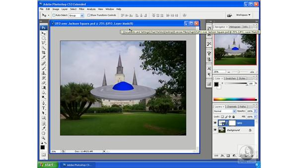 Using layer masks on 3D layers: Photoshop CS3 Extended for 3D + Video