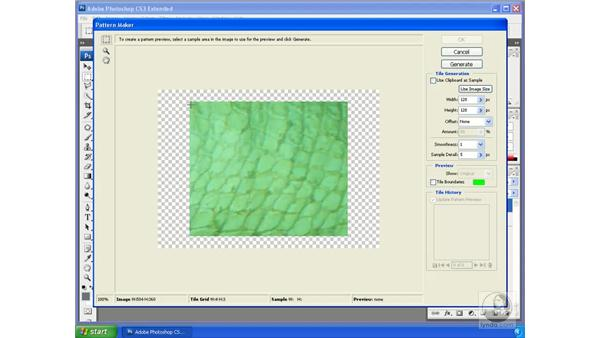 Creating seamless patterns: Photoshop CS3 Extended for 3D + Video