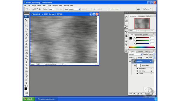 Creating organic textures from scratch, example 1: Photoshop CS3 Extended for 3D + Video