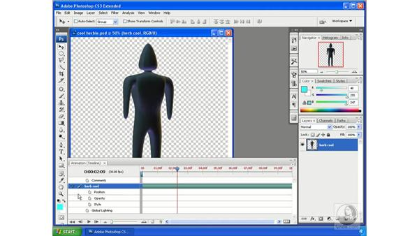 Animating in Photoshop (new school): Photoshop CS3 Extended for 3D + Video