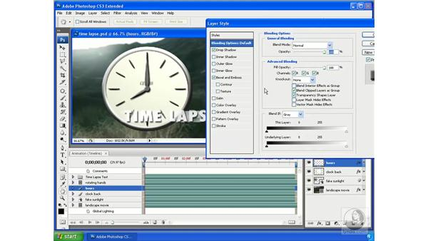 Faking time lapse by animating global lighting: Photoshop CS3 Extended for 3D + Video