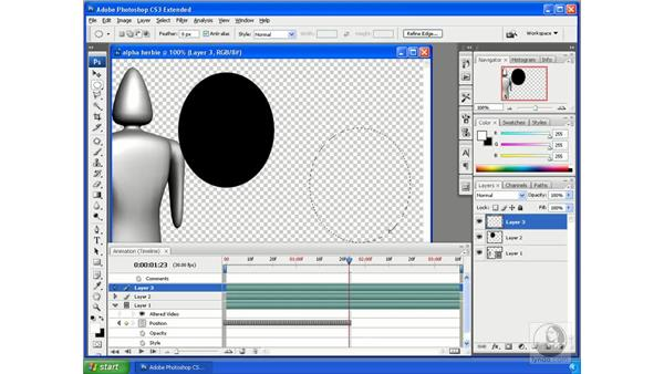 Flattening frames into layers and layers into frames: Photoshop CS3 Extended for 3D + Video