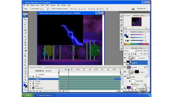 Integrating animated 3D and animated video: Photoshop CS3 Extended for 3D + Video