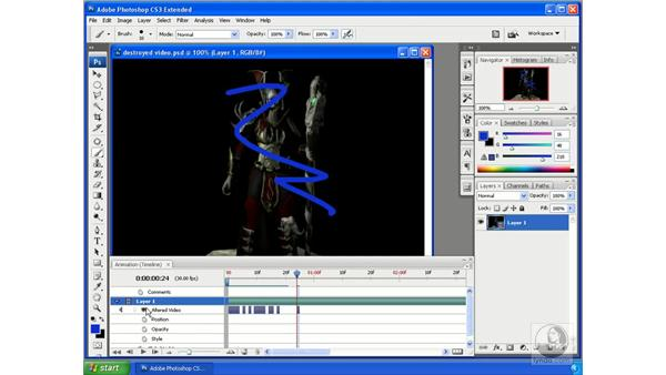 Rasterizing video: Photoshop CS3 Extended for 3D + Video