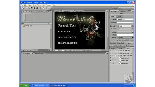 Creating Encore DVD menus in Photoshop: Photoshop CS3 Extended for 3D + Video