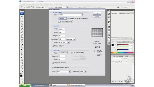Creating a photo contact sheet: Bridge and Version Cue CS3 Essential Training
