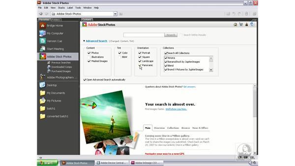 Adobe Stock Photos: Bridge and Version Cue CS3 Essential Training