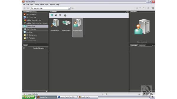 Configuring a Version Cue server: Bridge and Version Cue CS3 Essential Training
