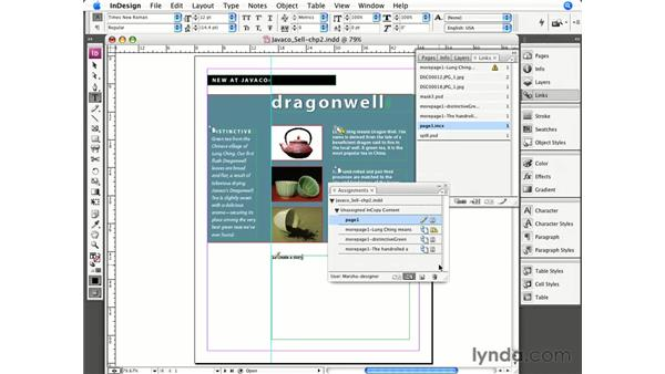 Completing a project in InDesign: InCopy CS3 + InDesign CS3 Integration