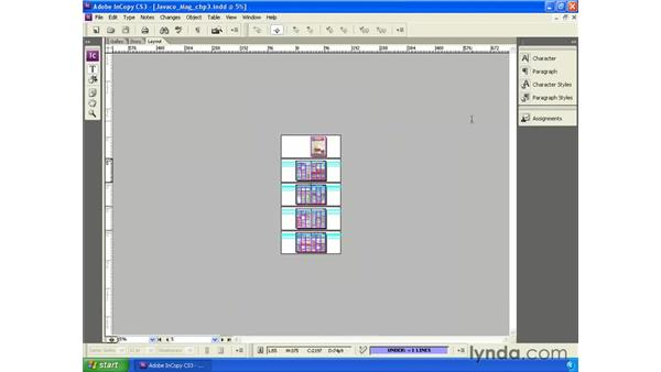 Document navigation: InCopy CS3 + InDesign CS3 Integration