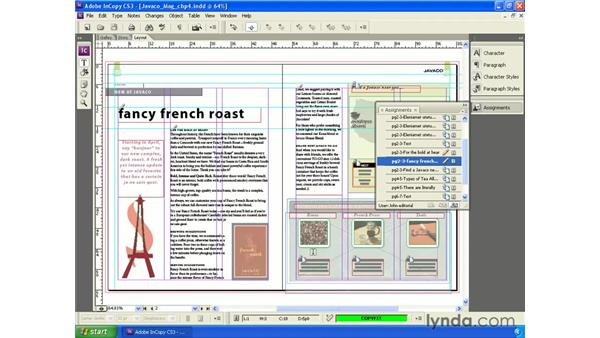 The Assignments panel: InCopy CS3 + InDesign CS3 Integration
