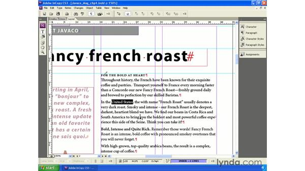 Editing in Layout view: InCopy CS3 + InDesign CS3 Integration