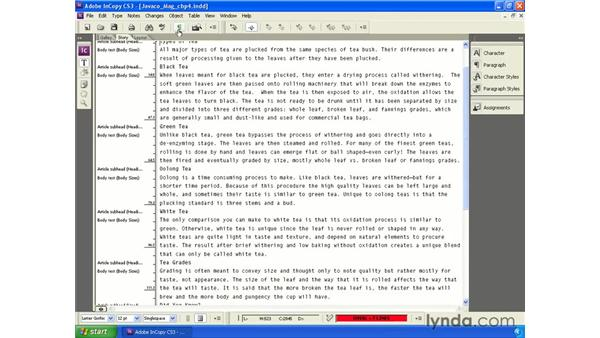 Editing in Story or Galley view: InCopy CS3 + InDesign CS3 Integration