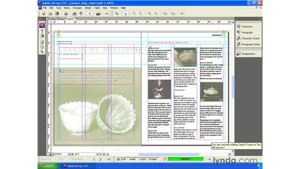 Copy fitting your text: InCopy CS3 + InDesign CS3 Integration