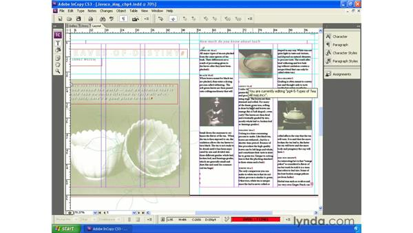 Inserting special characters: InCopy CS3 + InDesign CS3 Integration