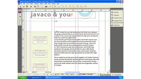 Importing text: InCopy CS3 + InDesign CS3 Integration