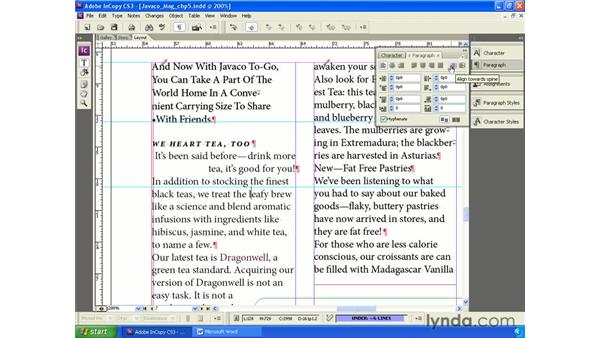 Applying local paragraph formatting: InCopy CS3 + InDesign CS3 Integration