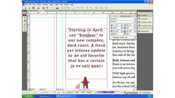 Changing the language: InCopy CS3 + InDesign CS3 Integration