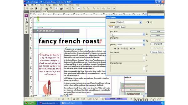 Find/Change: InCopy CS3 + InDesign CS3 Integration