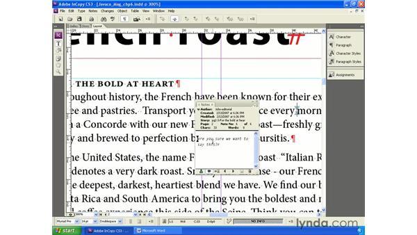 Using inline notes: InCopy CS3 + InDesign CS3 Integration