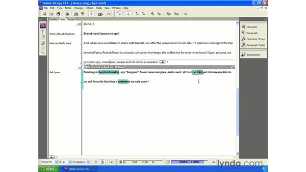 Setting up and using Track Changes: InCopy CS3 + InDesign CS3 Integration