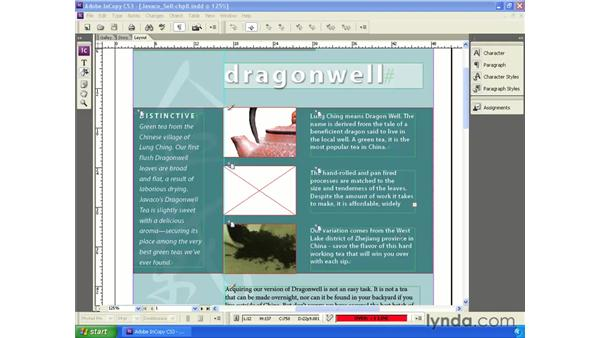 InCopy images overview: InCopy CS3 + InDesign CS3 Integration