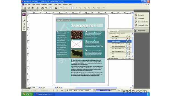 Importing and replacing images: InCopy CS3 + InDesign CS3 Integration