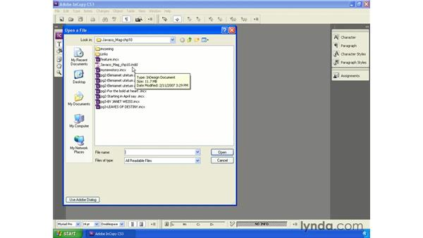 Opening linked InCopy stories directly: InCopy CS3 + InDesign CS3 Integration