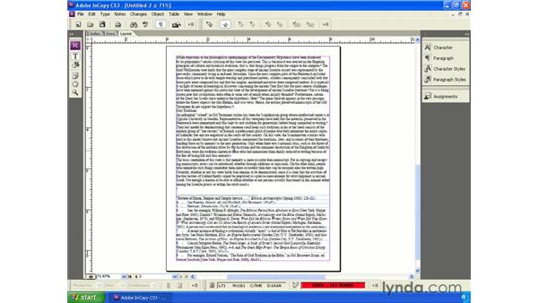 Opening Word files in InCopy: InCopy CS3 + InDesign CS3 Integration