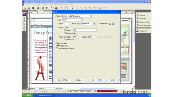 Printing from InCopy: InCopy CS3 + InDesign CS3 Integration