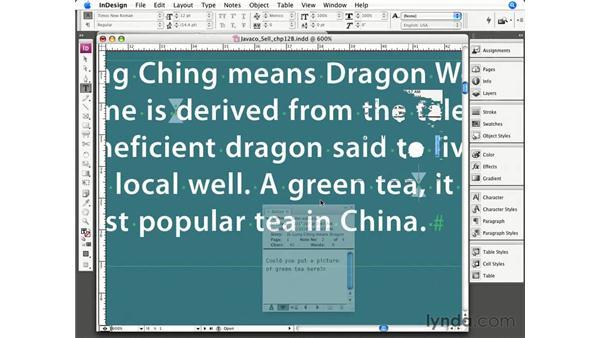 Using inline notes in InDesign: InCopy CS3 + InDesign CS3 Integration