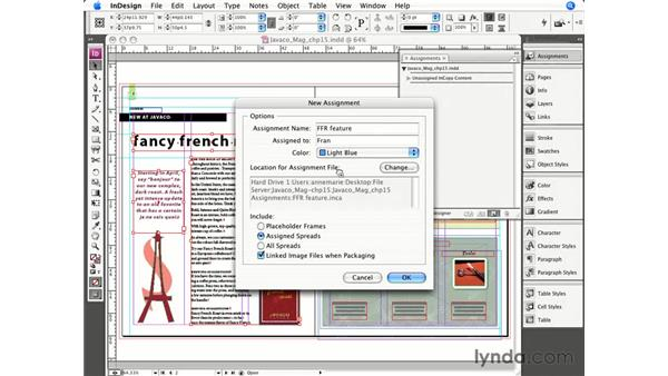 Creating assignment packages in InDesign: InCopy CS3 + InDesign CS3 Integration