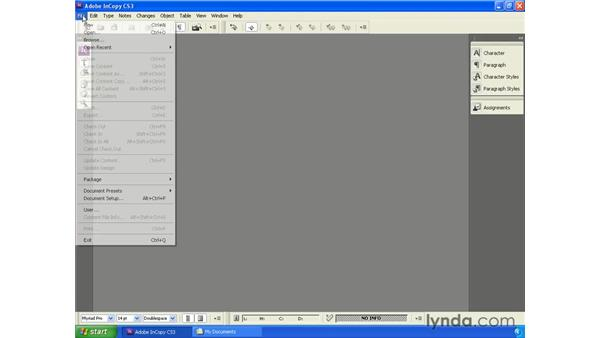 Working with assignment packages in InCopy: InCopy CS3 + InDesign CS3 Integration