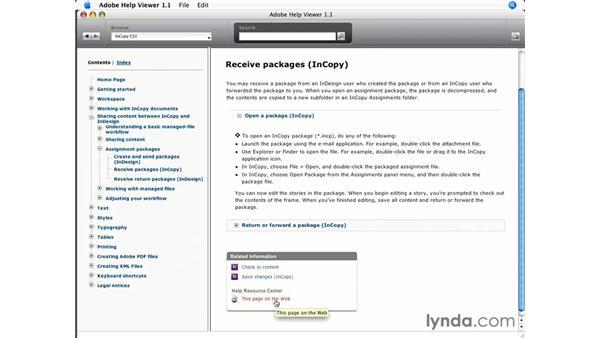 Online help: InCopy CS3 + InDesign CS3 Integration