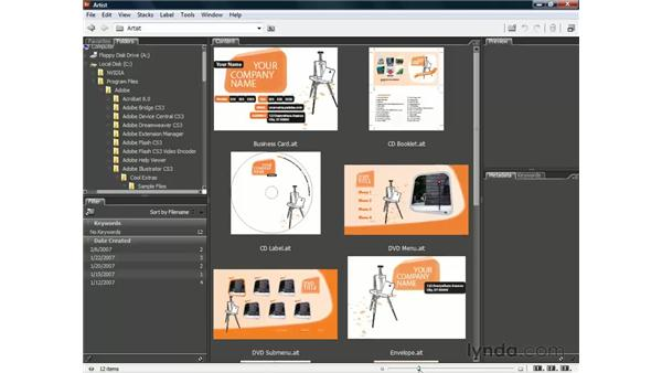 Bridge workspaces and favorites: Illustrator CS3 One-on-One: The Essentials