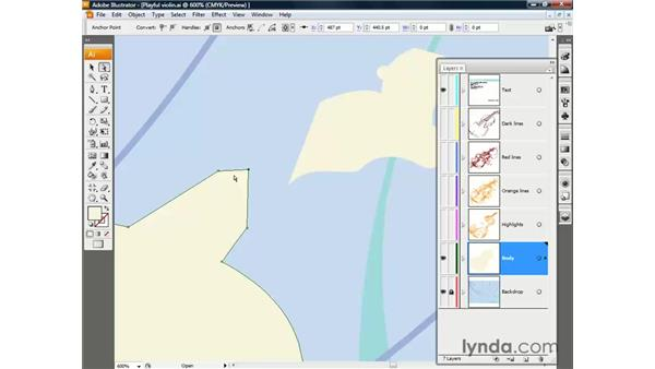 Customizing an illustration: Illustrator CS3 One-on-One: The Essentials