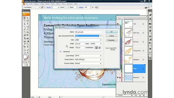 Creating a new document: Illustrator CS3 One-on-One: The Essentials