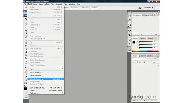 Establishing the best color settings: Illustrator CS3 One-on-One: The Essentials