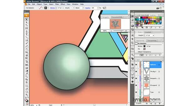 The Navigator palette: Illustrator CS3 One-on-One: The Essentials
