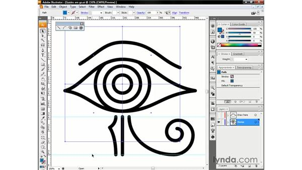 Organizing your guides: Illustrator CS3 One-on-One: The Essentials