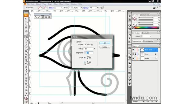 Drawing a looping spiral: Illustrator CS3 One-on-One: The Essentials