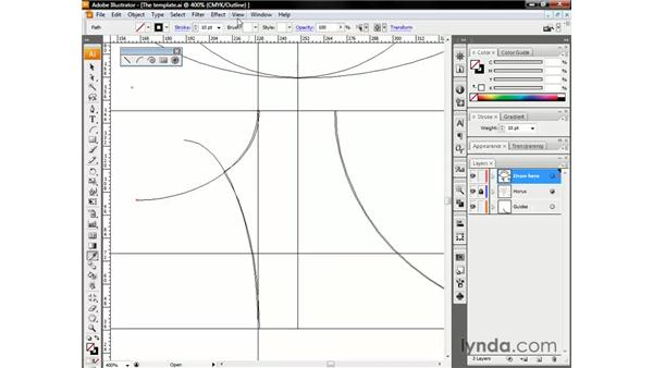 Cutting lines with the Scissors tool: Illustrator CS3 One-on-One: The Essentials