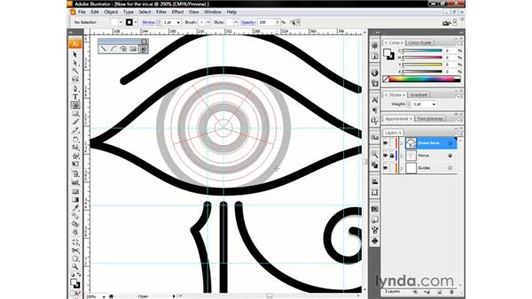 Drawing concentric circles: Illustrator CS3 One-on-One: The Essentials